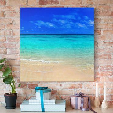 Stampa su tela - Paradise Beach I - Quadrato 1:1