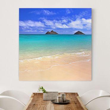 Stampa su tela - Paradise Beach - Quadrato 1:1