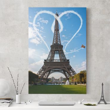 Stampa su tela Paris - City of Love - Verticale 2:3