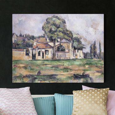 Stampa su tela - Paul Cézanne - Rive della Marna - Orizzontale 4:3