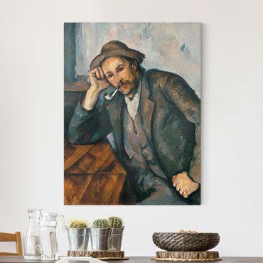 Stampa su tela - Paul Cézanne - Fumatore con braccio appoggiato - Verticale 3:4