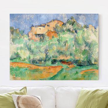 Stampa su tela - Paul Cézanne - Cascina di Bellevue con Colombaia - Orizzontale 4:3