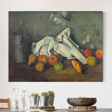 Stampa su tela - Paul Cézanne - Brocca di Latte e le Mele - Orizzontale 4:3