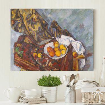 Stampa su tela - Paul Cézanne - Nature morte, Tenda Fiore e Frutta - Orizzontale 4:3