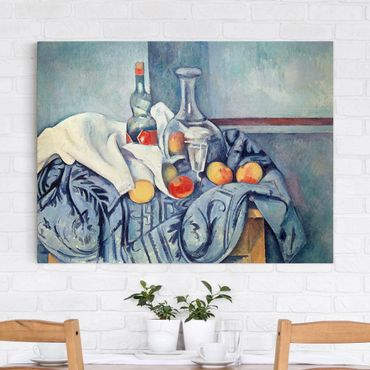 Stampa su tela - Paul Cézanne - Natura morta con Bottiglia di Liquore alla Menta - Orizzontale 4:3