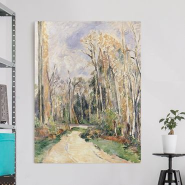 Stampa su tela - Paul Cézanne - Percorso presso l'Ingresso della Foresta - Verticale 3:4