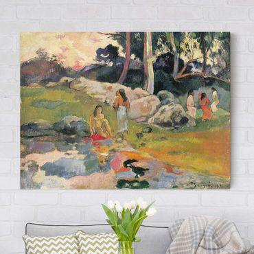 Stampa su tela - Paul Gauguin - Donna sulle rive del fiume - Orizzontale 4:3
