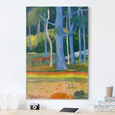 Stampa su tela Paul Gauguin - Paesaggio con Pantaloncini blu - Verticale 2:3