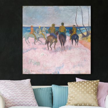 Stampa su tela - Paul Gauguin - Riders on the Beach (I) - Quadrato 1:1