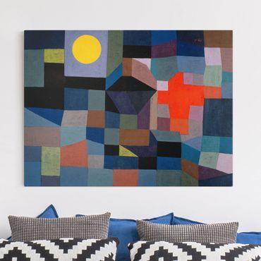 Stampa su tela - Paul Klee - Fuoco a la Luna piena - Orizzontale 4:3