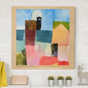 Stampa su tela - Paul Klee - Moonrise (St. Germain) - Quadrato 1:1