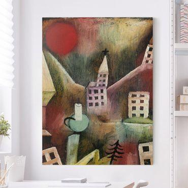 Stampa su tela - Paul Klee - Villaggio distrutto - Verticale 3:4