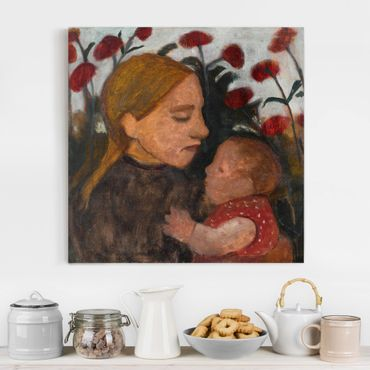 Stampa su tela - Paula Modersohn-Becker - Girl with Child - Quadrato 1:1