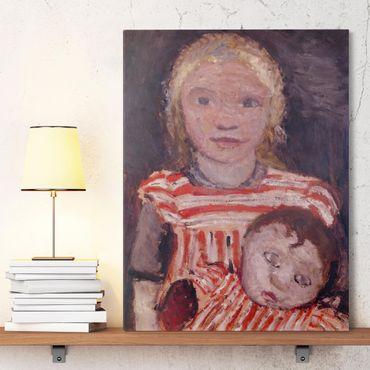 Stampa su tela - Paula Modersohn-Becker - Ragazza con la Bambola - Verticale 3:4