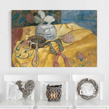 Stampa su tela - Paula Modersohn-Becker - Still life with Beaded Necklace - Orizzontale 3:2