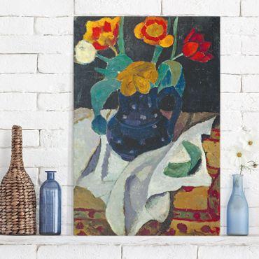 Stampa su tela Paula Modersohn-Becker - Natura morta con Tulipani - Verticale 2:3