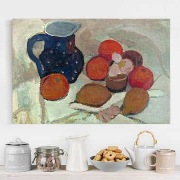 Stampa su tela - Paula Modersohn-Becker - Still Life with blue Star Pitcher - Orizzontale 3:2