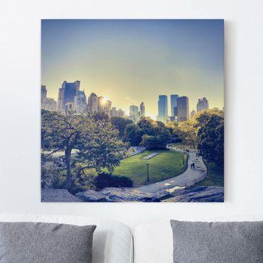 Stampa su tela - Peaceful Central Park - Quadrato 1:1