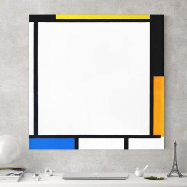 Stampa su tela - Piet Mondrian - Composition II - Quadrato 1:1
