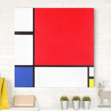 Stampa su tela - Piet Mondrian - Composition with Red, Blue and Yellow - Quadrato 1:1