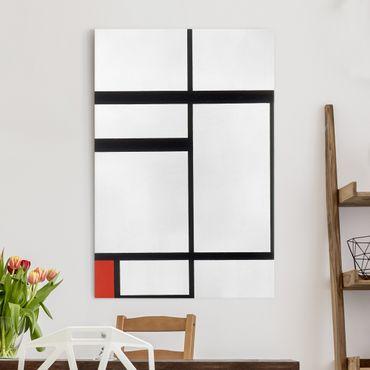 Stampa su tela Piet Mondrian - Composizione con Rosso, Bianco e Nero - Verticale 2:3