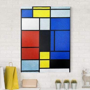 Stampa su tela - Piet Mondrian - Tableau No. 1 - Verticale 3:4