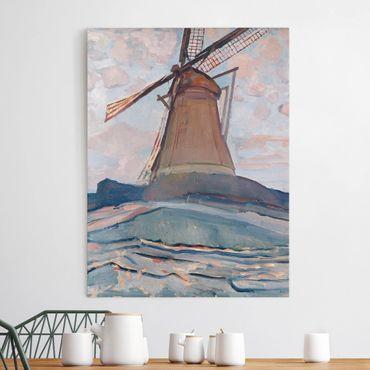 Stampa su tela - Piet Mondrian - Mulino a Vento - Verticale 3:4