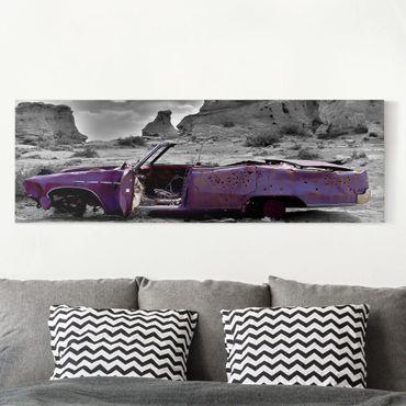 Stampa su tela - Pink Cadillac - Panoramico