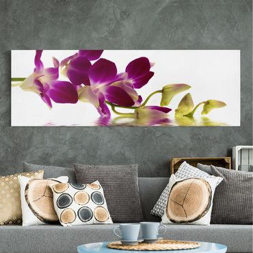 Stampa su tela - Pink Orchid Waters - Panoramico