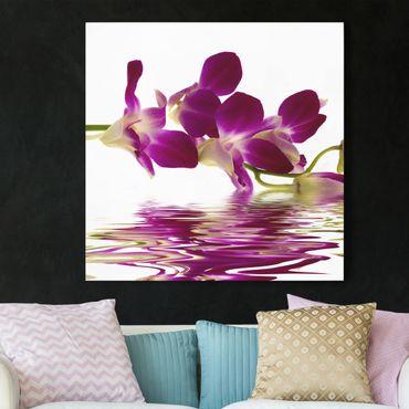 Stampa su tela - Pink Orchid Waters - Quadrato 1:1