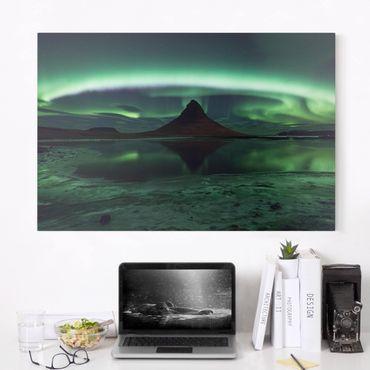 Stampa su tela - Aurora polare in Islanda - Orizzontale 3:2
