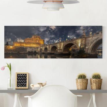 Stampa su tela - Ponte Sant'Angelo a Roma - Panoramico