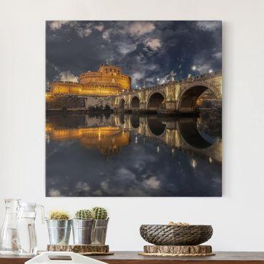 Stampa su tela - Ponte Sant'Angelo a Roma - Quadrato 1:1