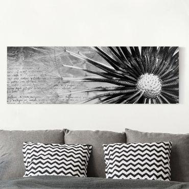 Stampa su tela - Dandelion Black & White - Panoramico