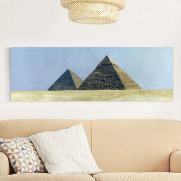 Stampa su tela - Pyramids Of Giza - Panoramico