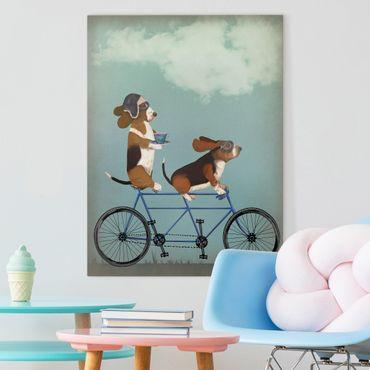 Stampa su tela - Ciclismo - Bassets Tandem - Verticale 3:4
