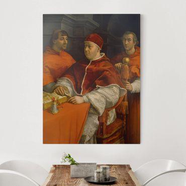 Stampa su tela - Raffael - Ritratto di Papa Leone X - Verticale 3:4