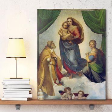 Stampa su tela - Raffael - La Madonna Sistina - Verticale 3:4