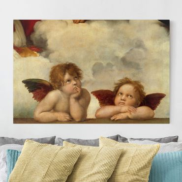 Stampa su tela - Raffael - Two Angels. Detail from The Sistine Madonna - Orizzontale 3:2