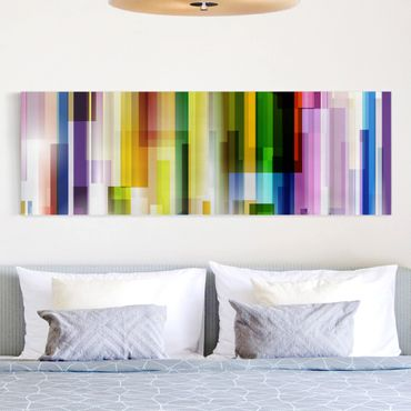 Stampa su tela - Rainbow Cubes - Panoramico