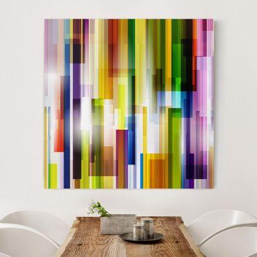 Stampa su tela - Rainbow Cubes - Quadrato 1:1