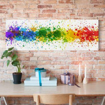 Stampa su tela - Rainbow Splatter - Panoramico