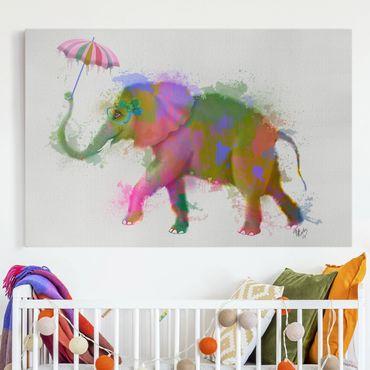 Stampa su tela - Arcobaleno Splash Elephant - Orizzontale 3:2
