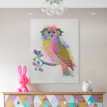 Stampa su tela - Arcobaleno Splash Owl - Verticale 3:4