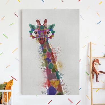 Stampa su tela - Arcobaleno Splash Giraffe - Verticale 2:3