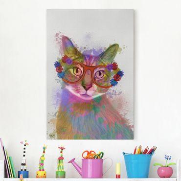 Stampa su tela - Arcobaleno Splash Cat - Verticale 2:3