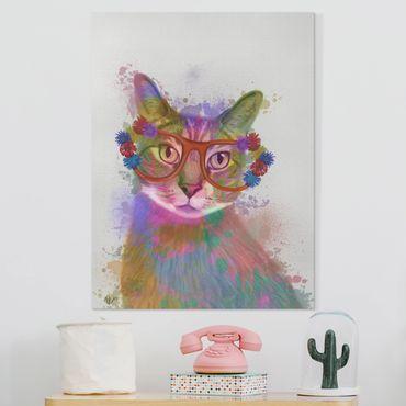 Stampa su tela - Arcobaleno Splash Cat - Verticale 3:4