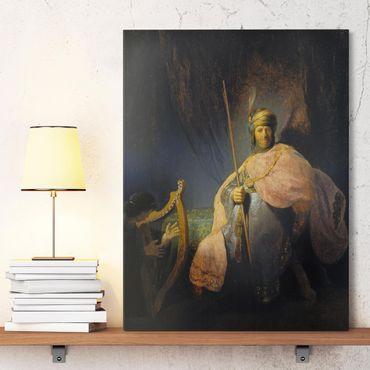 Stampa su tela - Rembrandt van Rijn - David che suona l'arpa a Saul - Verticale 3:4