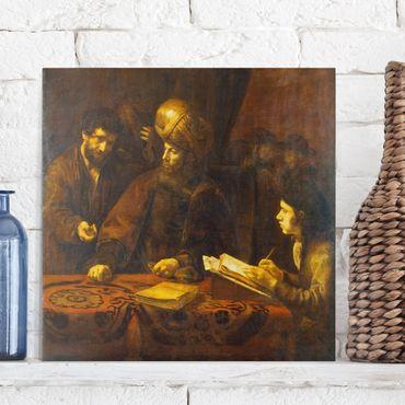 Stampa su tela - Rembrandt van Rijn - The Workers in the Vineyard - Quadrato 1:1
