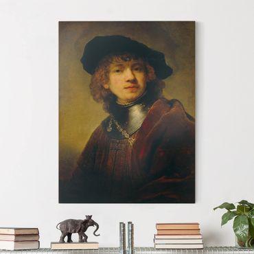 Stampa su tela - Rembrandt van Rijn - Auto Ritratto - Verticale 3:4
